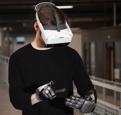 VR Haptic kesztyű